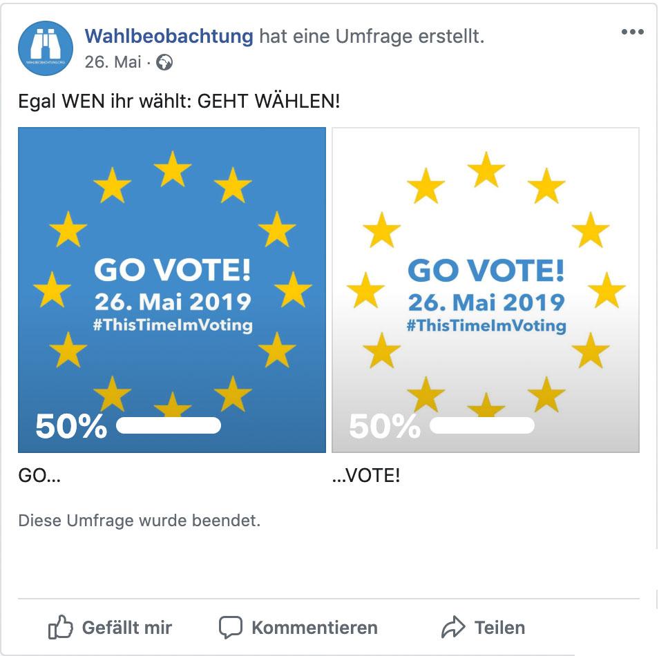 GO VOTE Umfrage