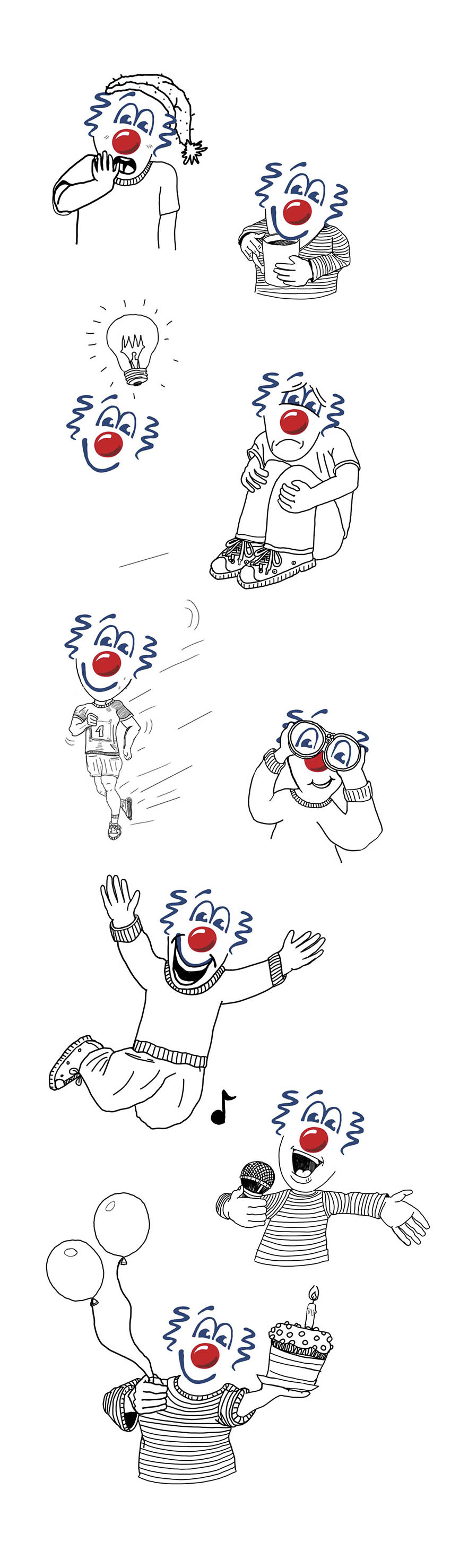 Red Noses International Clowns Face